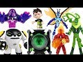 Dinosaur army is coming! Ben 10 Omnitrix transform to 10 aliens! Help PJ Mask friends! - DuDuPopTOY