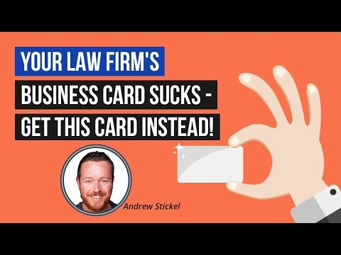 Lawyer Marketing Advice for 2018: Your Law Firm's Business Card Sucks