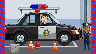 Мультфильм про полицейскую машинку. ПОЛИЦИЯ - развивающий мультик про полицию. Автомойка и машинки