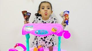 محل الأيسكريم!!Lulu Pretend Play Ice Cream Shop