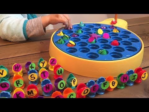 Learning ABC letter Alphabets with let's go fishing game for kids