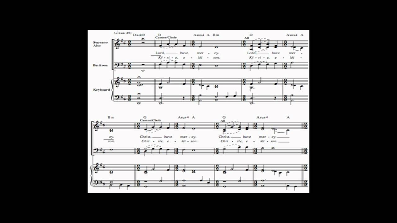 Lord have mercy & Kyrie eleison by Dan Schutte