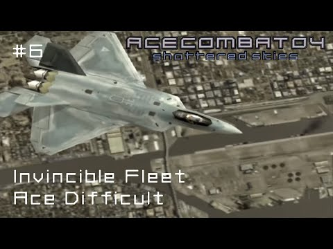 Mission 6: Invincible Fleet (Ace Difficult - 100% Kill Rate) - Ace Combat 04 - 60 FPS