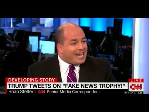 CNN's Brian Stelter Upset Trump is Calling for 'Fake News Awards'