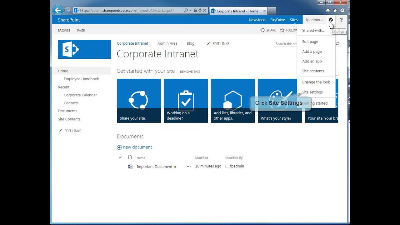 How to Create a New SharePoint 2013 Site Template - SharePoint 2013