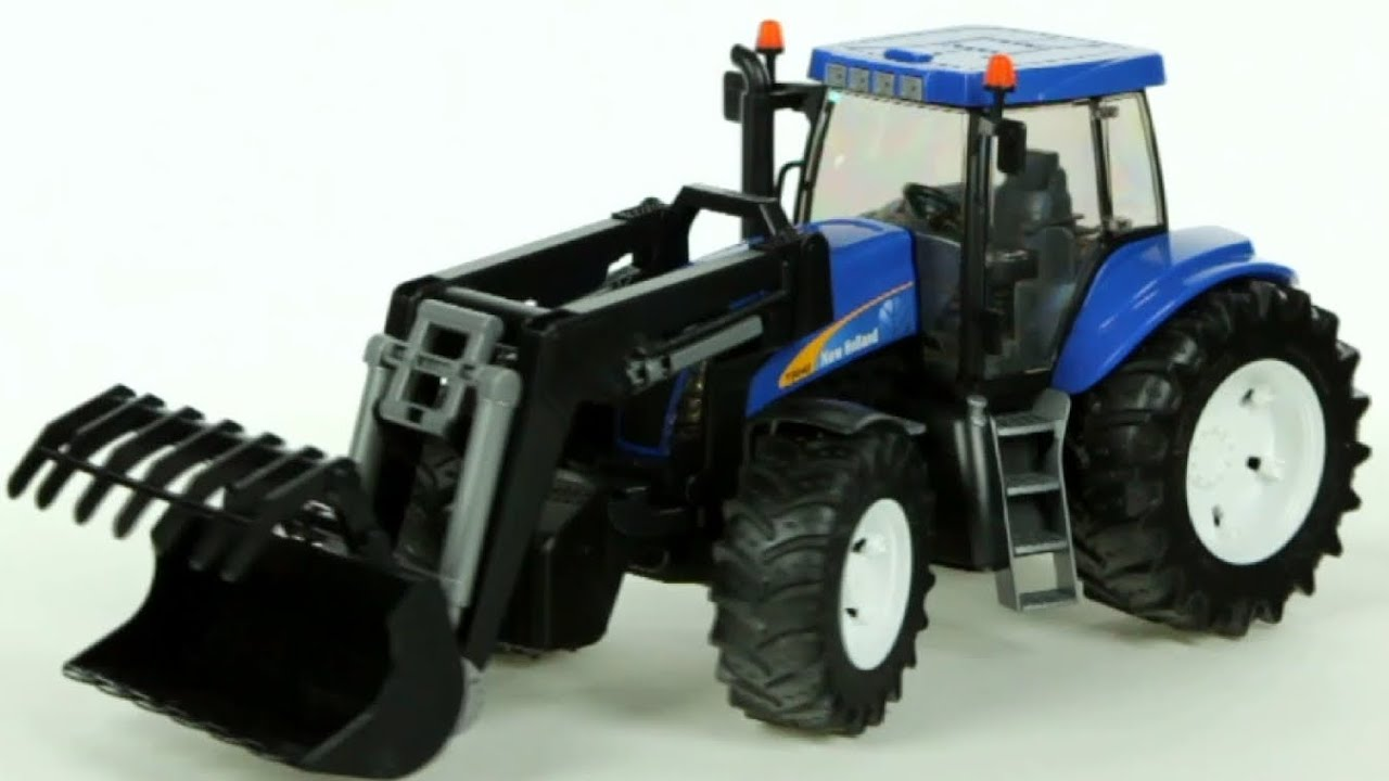 New holland t farm tractor with front loader bruder
