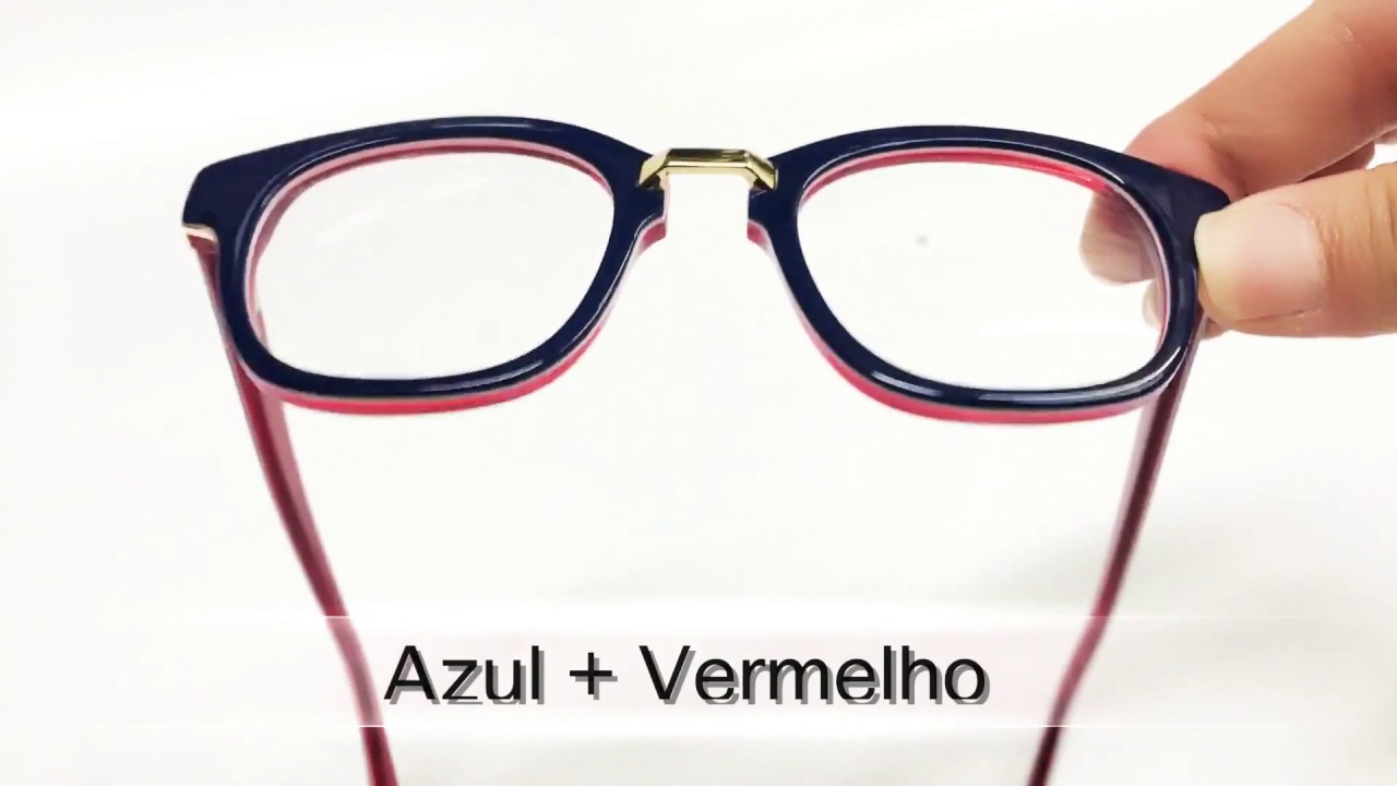 5da5b75c0f9b1 Armação de óculos de grau estilo quadrado feminino - YouTube