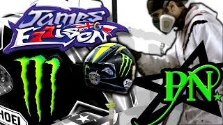 James Ellison 2016 Monster Energy Shoei Xspirit 3 helmet