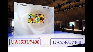 "So sánh Samsung UA55RU7400 và UA55RU7100 Smart TV 55"" 4K 2019"