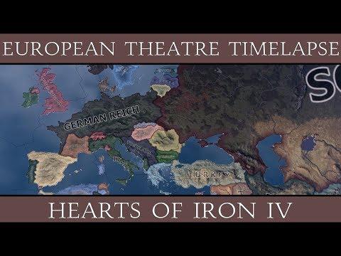 Hearts of Iron 4: European Theatre Timelapse (1939-1946)