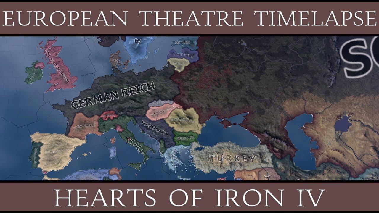 hearts of iron 4 europe map Hearts of Iron 4: European Theatre Timelapse (1939 1946)   YouTube