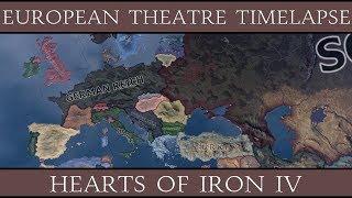 Hearts of Iron 4 European Theatre Timelapse 1939-1946