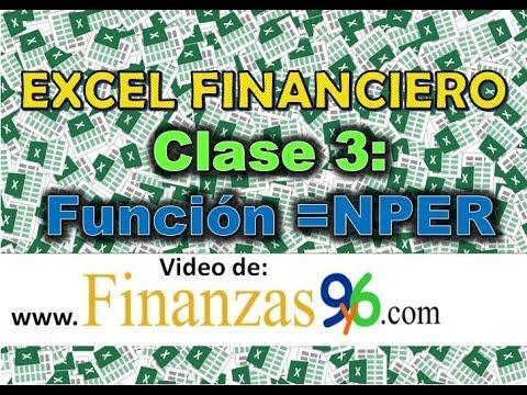 Cómo calcular el numero de cuotas - Función NPER - Clase 3 - Excel Financiero