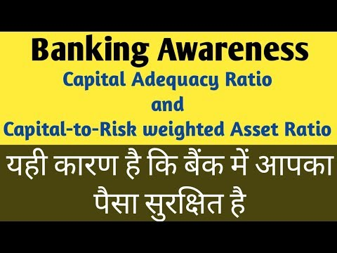 Capital Adequacy Ratio | Capital to Risk weighted assets ratio | CAR in bank | CRAR in bank