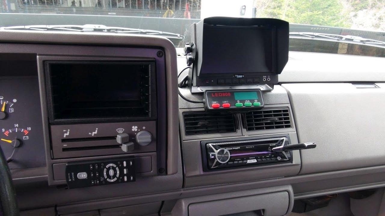 stereo install 1993 gmc 4x4 truck  [ 1280 x 720 Pixel ]