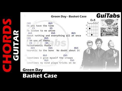 Green Day - Basket Case ( Lyrics and GuiTar Chords ) 🎸