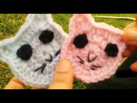 Crochet Cat Applique Video Tutorial Youtube