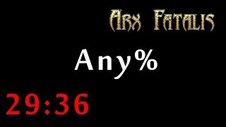 Arx Fatalis speedrun (any% - 29:36 RTA)