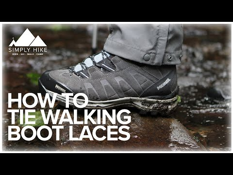 7a9bd2e60cb How to Tie Walking Boot Laces - YouTube