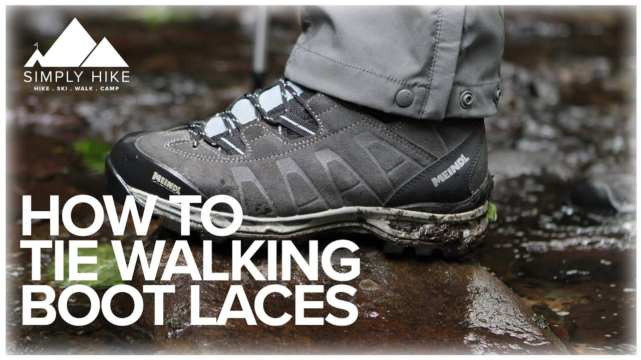 7db83a65563 How to Tie Walking Boot Laces - YouTube