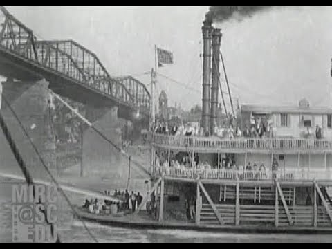 Steamboat Race on the Ohio River, July 1929