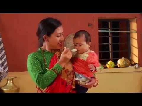 Nepal: How to Cook Super Flour Porridge for Complementary Feeding (Nutrition)
