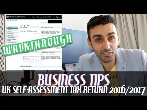 UK Tax Return for 2017/2018 Walkthrough | Full-Time & Self-Employed Freelancer