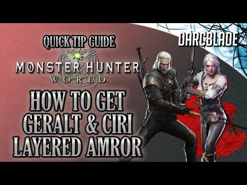How to Get the Geralt & Ciri Layered Armor : Monster Hunter World : MHW thumbnail