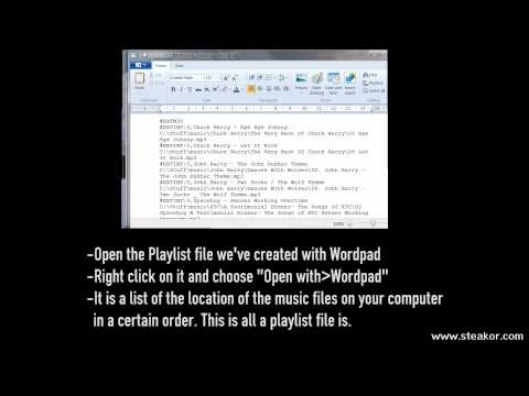 How to Get Downloaded Music Playlist Files (M3U or M3U8) to