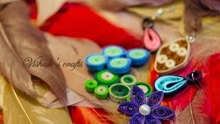 Paper quilling tutorial for beginners in Tamil - Tutorial 1