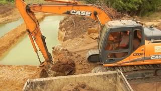 Excavator Digging a pond