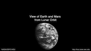 View of Earth and Mars from Lunar Orbit