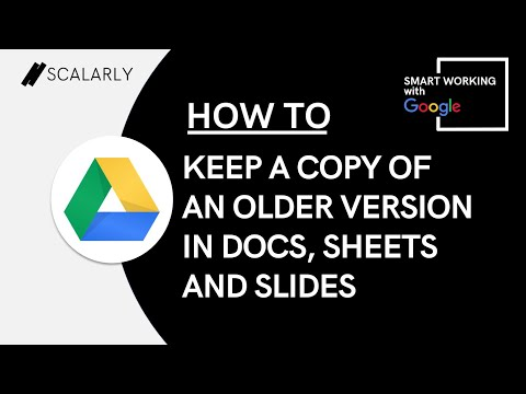 How to Keep a Copy of an Older Version in Docs, Sheets and Slides (REVERT TO OLD VERSION MADE EASY)