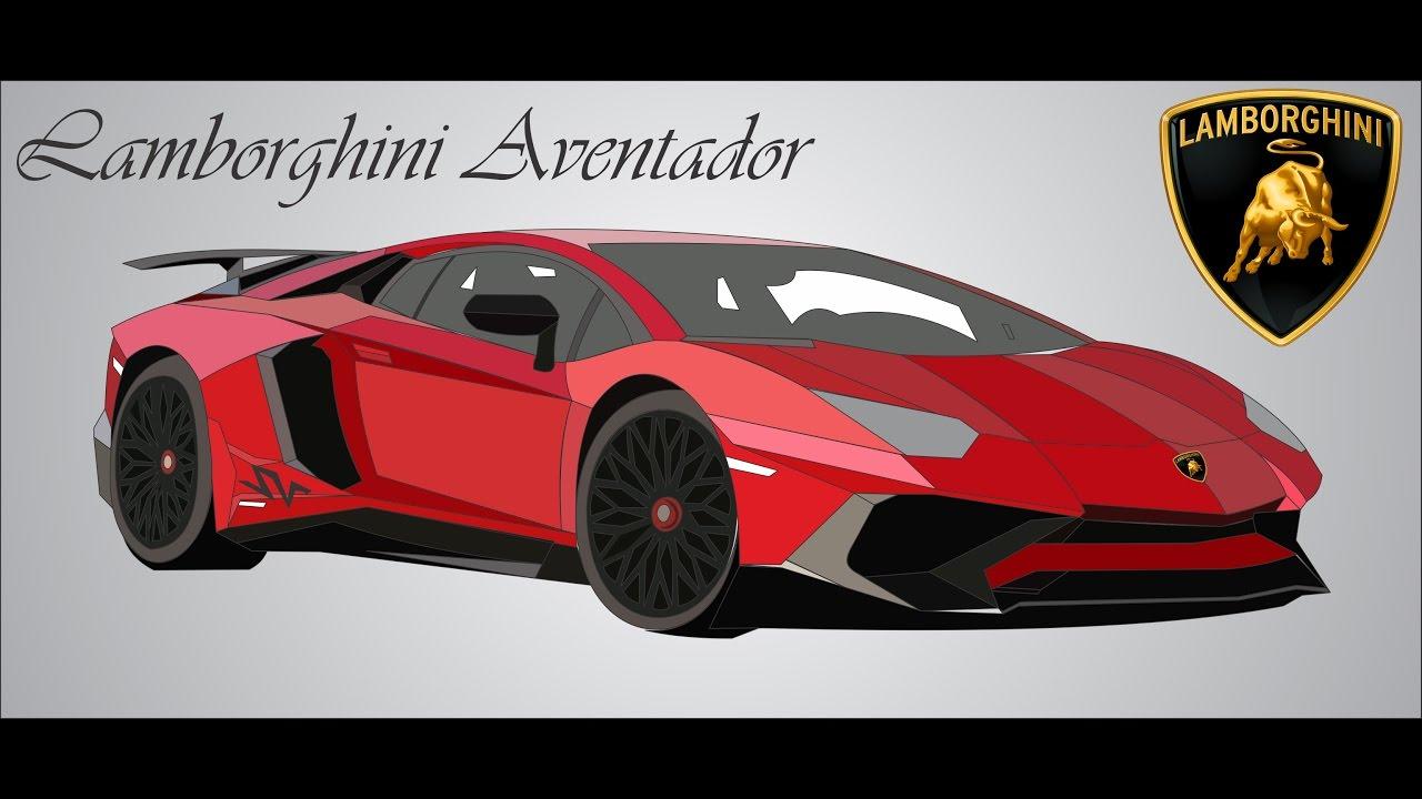 Make Vector Lamborghini Aventador Part 1 Corel Draw Youtube