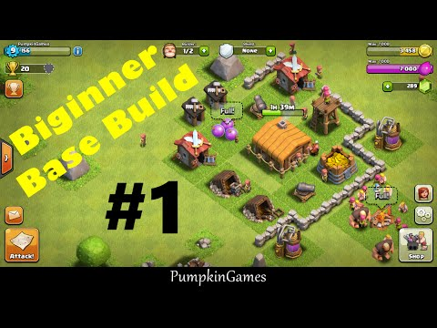 Maxed Town Hall 2 - Base Design #1 - Clash of Clans Beginner Gameplay