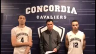 Post-game interview after Concordia-Portland's 79-77 win over MSUB