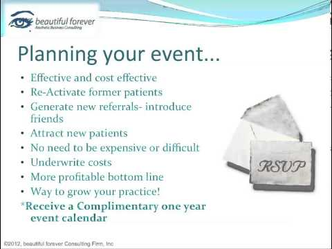 Aesthetic Business - Planning a Successful Event-Part 1- Planning Your Event