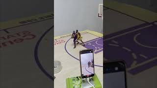 He made this video of Kobe and LeBron with his action figures 😳👏   #shorts
