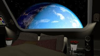 Deep White Noise Space Sleep Sound | Spaceship Ambience 10 Hours