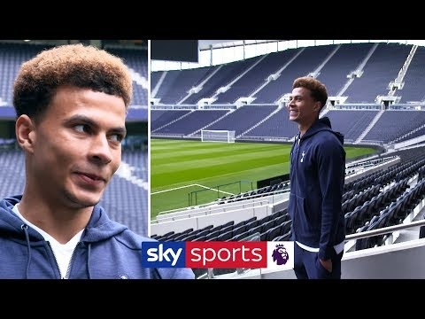 Dele Alli sees Tottenham's new stadium for the first time!