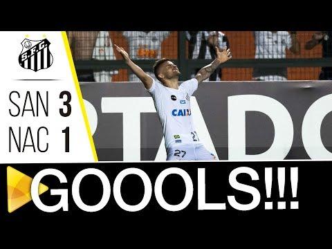 Santos 3 x 1 Nacional | GOLS | Libertadores (15/03/18)