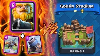 Clash Royale   ROYAL GG + X-BOW + MORTAR TROLLING ARENA 1!   *FUNNY MOMENTS* (Drop Trolling #70)