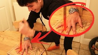 EXPERIMENT Glowing 1000 degree KNIFE VS. HUMAN HAND (Knife Game) GONE WRONG