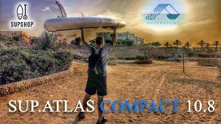 SUP-доска ATLAS COMPACT 10.8 полный тест драйв (4k)