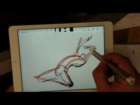 Digital Gesture Drawing on the i-pad AIR