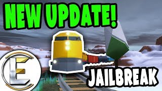 ROBLOX NEW HUGE UPDATE | JAILBREAK TRAINS ! - Police Stopping Criminals (Funny Moments)