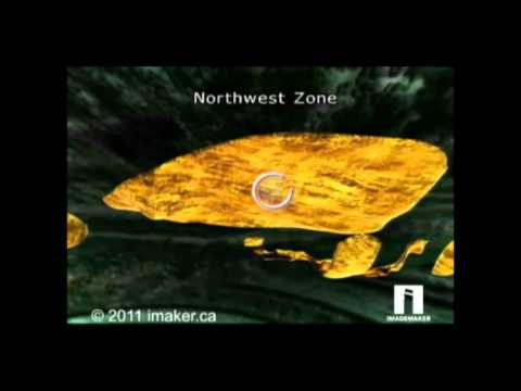 3d technical illustration of gold deposits