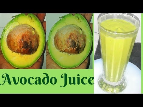 HOW TO MAKE AVOCADO JUICE
