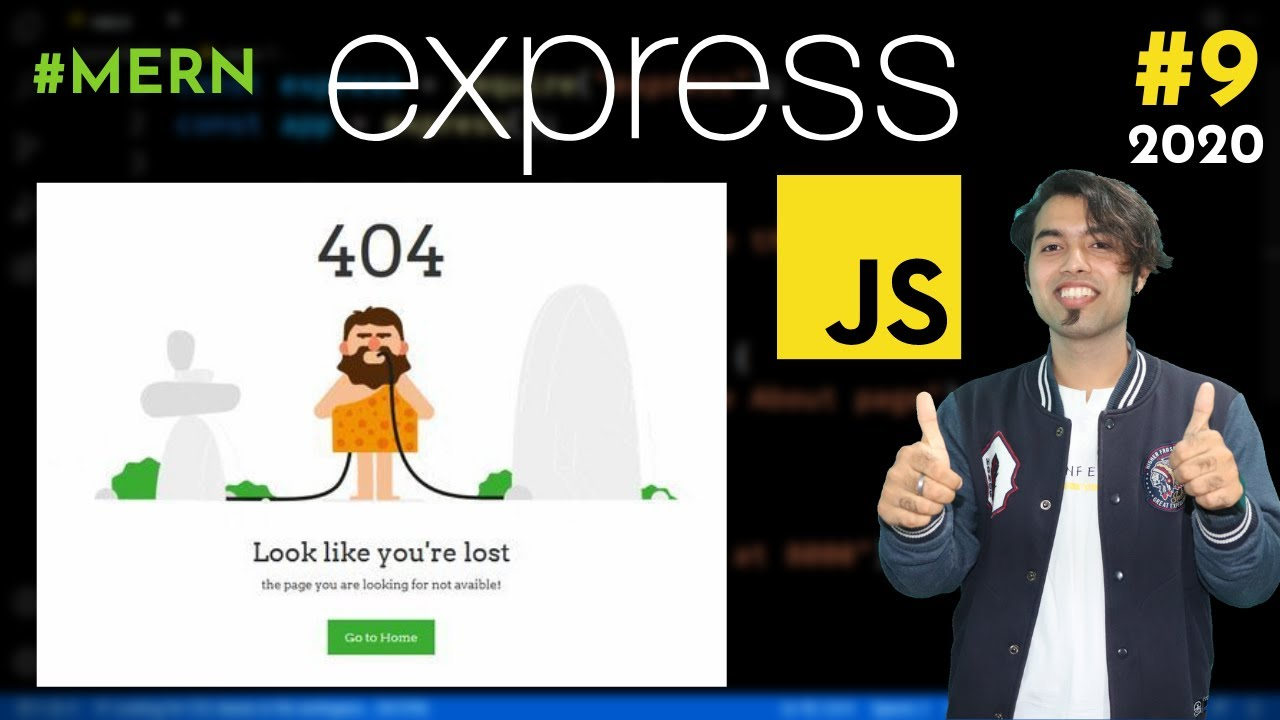 Add 404 error page in Dynamic Website using Express JS in Hindi