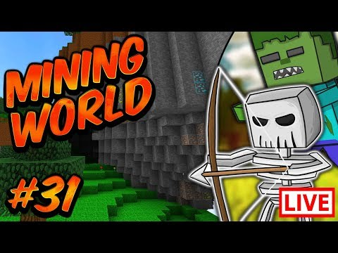 MINING WORLD LIVE STREAM!! | Sky Bounds (Episode 31)